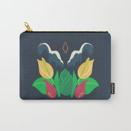 Striped Skunk + Skunk Cabbage Carry-All Pouch