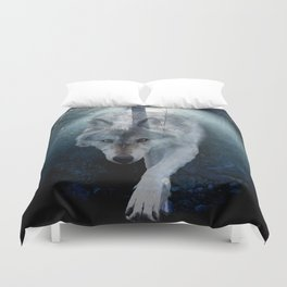 The Gathering - Wolf and Eagle Duvet Cover
