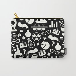 Black and White Science Pattern Carry-All Pouch