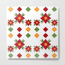 National ethnic ornament . White background . Metal Print