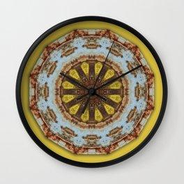 Colors of Rust, mandala 03 Wall Clock
