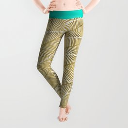 Tropical Gold Leggings