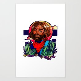 Cacti Noon Art Print