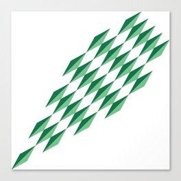 Green Diamonds by FreddiJr Canvas Print