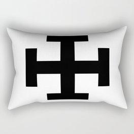 Krückenkreuz Crutch Cross Martial Heathen symbols Rectangular Pillow