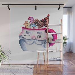 Santa Candy Cup Wall Mural