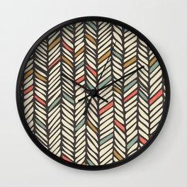 Autumn Threads Wall Clock