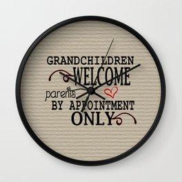 Grandchildren Welcome Wall Clock