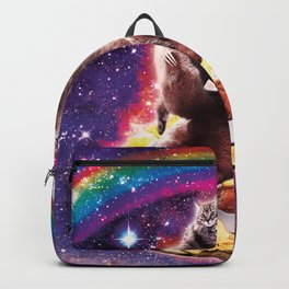 Space Cat Llama Sloth Riding Nachos Backpack
