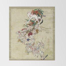 Okami Celestial parade Throw Blanket
