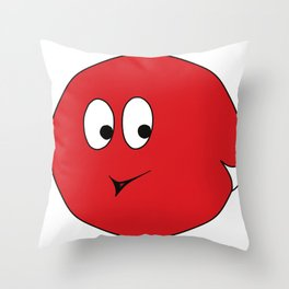 White-tailed Spherical Red Blop Throw Pillow