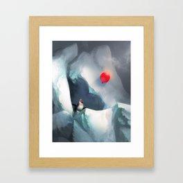 Heart Penguin Framed Art Print