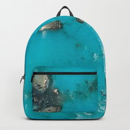 Turquoise with Gold Veining and Deposits Backpack