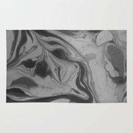 Black and grey marble Rug