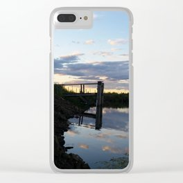 Dock at Sunset Clear iPhone Case