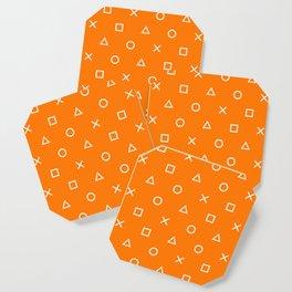 Orange Gamer Pattern Coaster