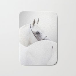 white arabian horse Bath Mat