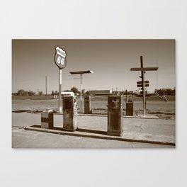 Route 66 Gas Pumps 2012 Canvas Print