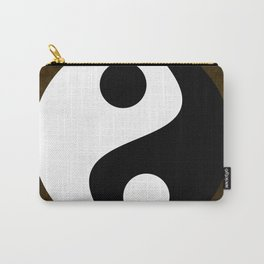 Yin and Yang - Brown Carry-All Pouch
