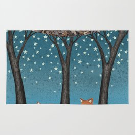 starlit foxes Rug