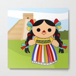 Maria 2 (Mexican Doll) Metal Print