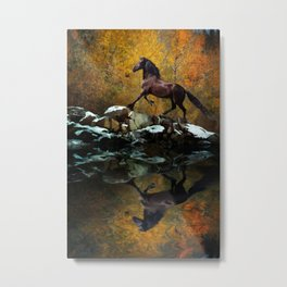 Reflections of Fall Metal Print