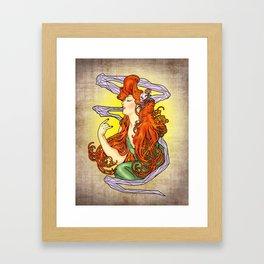 Lady Mucha Framed Art Print