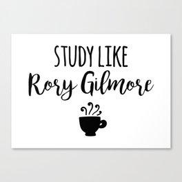 Gilmore Girls - Study like Rory Gilmore Canvas Print