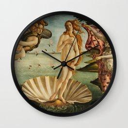The Birth of Venus - Nascita di Venere by Sandro Botticelli Wall Clock