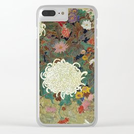flower【Japanese painting】 Clear iPhone Case