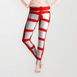 RED GINGHAM Leggings