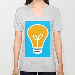 Let Your Light(bulb) Shine Unisex V-Neck