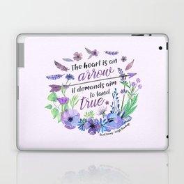 The heart is an arrow Laptop & iPad Skin