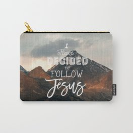 I Have Decided to Follow Jesus - Christian Song Lyric Quote Carry-All Pouch