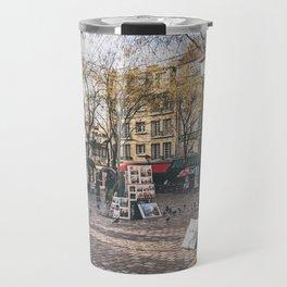 Artists Square in Montmartre, Paris Travel Mug
