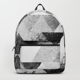 Triangle vintage black-and-white monochrome based1 Backpack