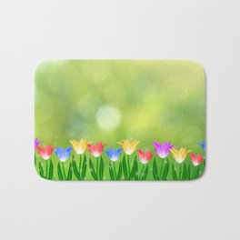 Floral happy spring Bath Mat