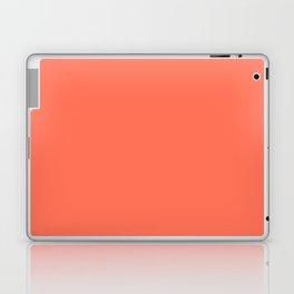Simply Deep Coral Laptop & iPad Skin