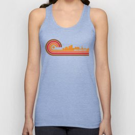 Retro Style West Hartford Connecticut Skyline Unisex Tank Top