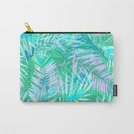 Green palm leafs Carry-All Pouch