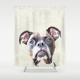 Brindle Boxer Dog Shower Curtain