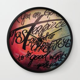 God's Masterpiece Cross Wall Clock