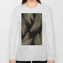 Palm Leaves - Gold Cali Vibes #4 #tropical #decor #art #society6 Long Sleeve T-shirt