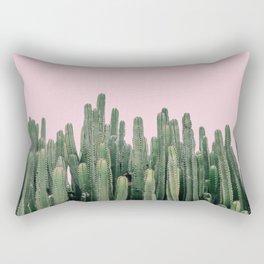 Pink Sky Cactus Rectangular Pillow