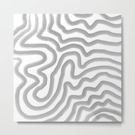 Watercolor strokes Metal Print