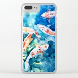 Koi Fish Watercolor by Julesofthsea Clear iPhone Case