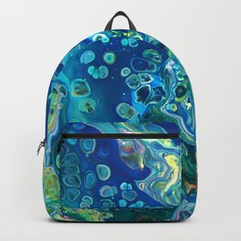 Fluid Nature - Marine Odyssey - Abstract Acrylic Art Backpack