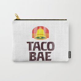 Taco Bae Vintage Print Carry-All Pouch