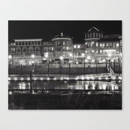 Riverfront Lights Canvas Print