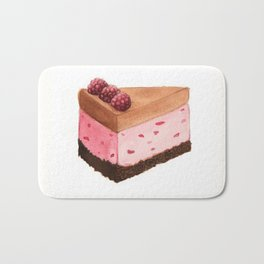 Raspberry Ice Cream Cake Slice Bath Mat